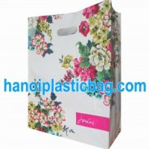Die cut circle handle bags HDPE