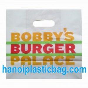 Die cut plastic bags HDPE
