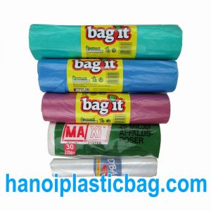 Trash bags on roll