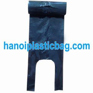Túi bóng T-shirt cuộn LDPE đen