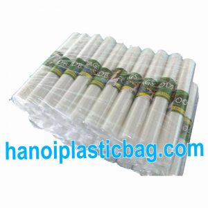 Clear plastic bag on roll