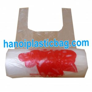 Printed t-shirt bags on roll