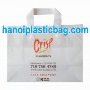 Plastic shopping bag Frosted HDPE