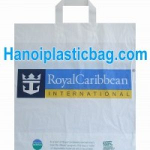 Plastic bags with soft loop handles