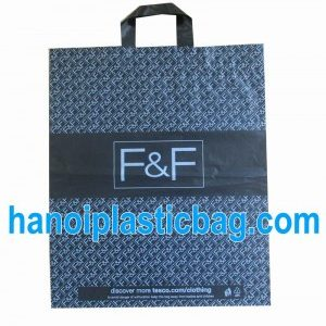 Luxury shopping plastic bag