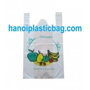 Resealable T-shirt plastic bags