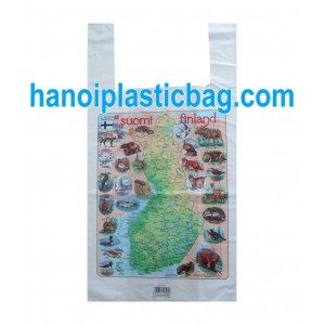 Resealable plastic T-shirt bags