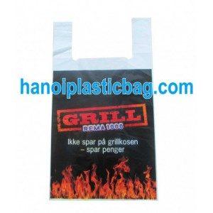 Plastic singlet shopping bags