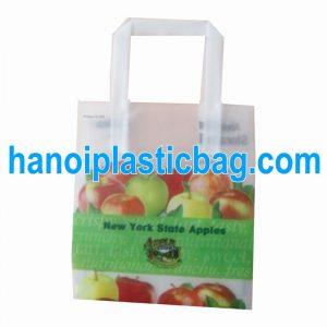Túi nhựa có quai gập 3 HDPE xanh