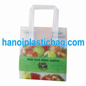 Plastic HDPE tri fold handle bags