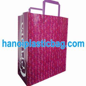 Túi nhựa có quai gập HDPE trắng
