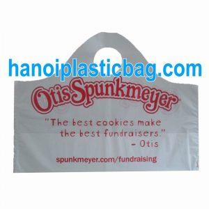 Plastic wave top handle bags