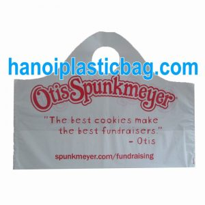 Plastic wave top handle bags